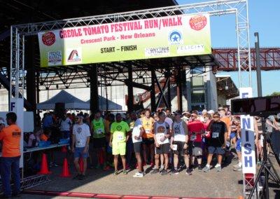 Tomato Fest Race Starting Line